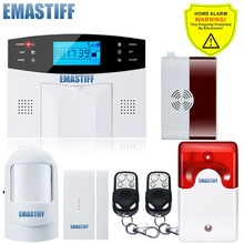 Built-in Antenna Gas Sensor Russian/French/Spanish/ English Auto Dialer Wireless GSM Alarm System Remote Alarm Security System