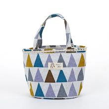 Tote Lunch Bag Plaid Pattern Insulated Thermo Bag Tote Cooler Bag Drawstring Handbag Container Lunchbox(China)