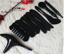 9pcs acupuncture massage scraping plates dial ribs Triangle bird massage stick eye face head back face Meridian massage set