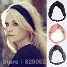 Women's Crochet Elastic Twist Headbands Bow Turban Headband Headwrap Hairbands Bandage Girls Headwear Headdress Hair Ornaments