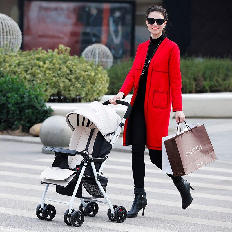 Baby car ultra-light portable folding shock four wheel push umbrella car dual-use baby stroller<br><br>Aliexpress