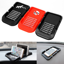 With Numbers Phone Holder Parking GPS Holders For Key Cell Phone iphone Non-slip Pad High Quality Car Dashboard Anti Slip Mat(China)