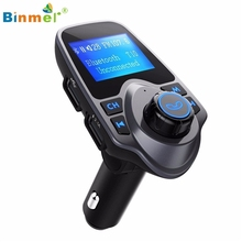 Binmer Bluetooth Car Kit MP3 Player FM Transmitter Wireless Radio Adapter USB Charger Professional Drop Shipping High Quality