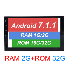 HD 1024*600 Android 7.1.1 car Radio 2 din car dvd Player GPS navigation no dvd support 4G LTE Network DAB+ TPMS+TDA 7851+RDS