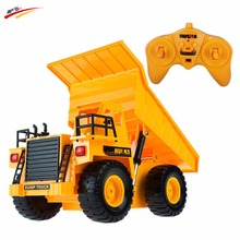 RC Truck Remote Control Dump Truck Tip Lorry Simulation Project Tilting Cart Dumper Truck Engineering Carrier Vehicle Toys