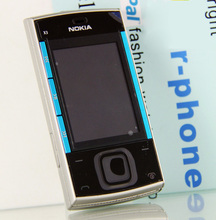 Original Nokia X3 Mobile Cell Phone Bluetooth 3.2MP MP3 Player X3-00 Slider Cellphone Unlocked & One year warranty