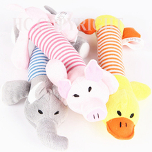 Dog Sound Toys Pet Puppy Chew Squeaker Squeaky Plush Sound Duck Pig Elephant Shape Toys