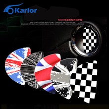 2pcs For Mini cooper clubman countryman Car Inner Door Handle Sticker decals Checkered red balck union jack R55 R56 R60 R61(China)