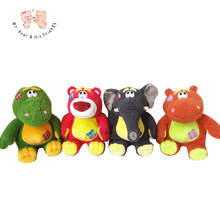 New arrival 40cm Big Cute Cartoon animals Plush Toys Dinosaur/elephant/bear/hippo doll stuffed plush kids toys Christmas Gifts