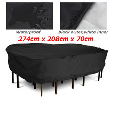 274x208x70cm Patio Garden Outdoor Furniture Cover Large Rectangular Table/Chair Protective Cover Table Cloth Textiles Waterproof