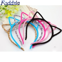 6pcs/lot Girls Cat Ears Hairband Stylish Women Crown Headband Sexy Self Photo Prop Hair Band Accessories Princess Headwear R17(China)