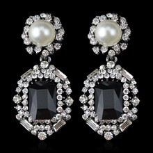 Brincos Ohrringe Phone 3pair wholesale USA style Bohemia Earring  CA New of  Pearl black gem Earrings  for women jewelry