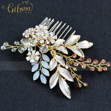 3pcs/Lot Enamel Leaf and Flower Vintage Bridal Magic Hair Comb Wedding Prom Hair Accessories Comb