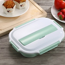 4 Colors Stainless Steel Thermo Bento Lunch Boxs Japanese Food Box Insulated Lunchbox Thermal School Food Container With Scoop