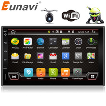 Eunavi 7'' 2 Din Android 6.0 quad core universal double din car radio gps stereo player in dash 2din car pc with wifi 2G RAM RDS