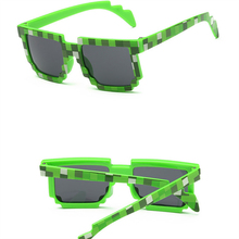 Fashion shunglass Vintage Square Novelty Mosaic Sun Glasses Unisex Pixel Sunglasses Trendy Minecraft Glasses Baby sunglass