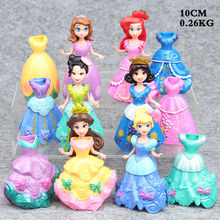 Fancy Lovely 6pcs/Set Princess doll with Magic Clip Dress Kids Girls Favorite Toys Baby Girls Gift