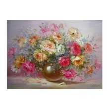 ACEHE 40x50cm Frameless Oil Painting Flowers Picture On Wall Paint By Numbers Drawing Artistic Gift Indoor Display Hand Painted