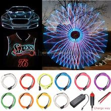 Neon Light Dance Party Decor Light 2m 5m Neon LED lamp Flexible EL Wire Rope Tube Waterproof LED Strip Dance Light Car Styling