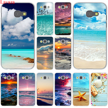 Clear Sea Sky Sandy beach Hard Case Cover for Samsung Galaxy A3 A5 J3 J5 J7 2015 2016 2017 & Grand Prime Note 2 3 4 5