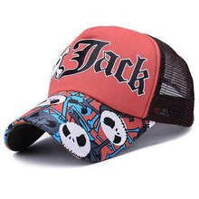Unisex JACK Baseball Cap Breathable Summer Skull Cap with Mesh Casual casquette Trucker Hat Adjustable Snapback Caps