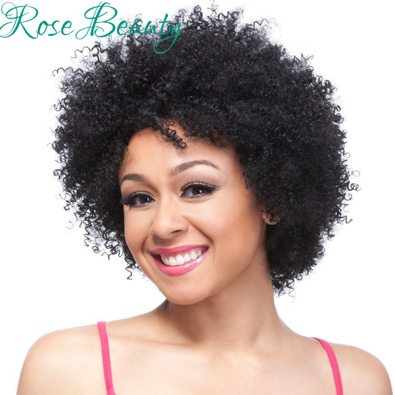 afro curly wigs synthetic Short Black/Brown/99j kinky curly afro synthetic wigs for black women Pelucas Pelo Natural looking wig<br><br>Aliexpress