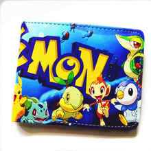 Cartoon wallet / Dragon Ball Z / One Piece / Naruto / Fairy Tail / Death Note / multi-style short wallet men and women(China)