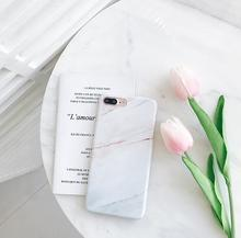 Marble tpu rubber case for iphone 6 7 6s 6Plus 7 Plus i6 fashion mobile phone bags case cover for iphone 6 s coque(China)