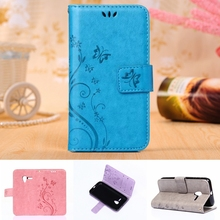 Butterfly Flower Wallet Case For Alcatel One Touch Pixi 3 4.5 in OT 4027X 4027D 4028A 4028E 5017D Back Cover Leather Phone Bag