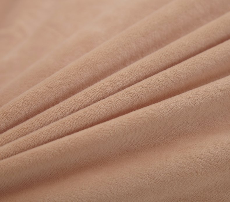3Pcs Fleece Bed Skirt Set W/ Pillowcases, Mattress Protective Cover 52