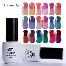 BORN PRETTY Thermal Colour Change Gel 1 Bottle 5Ml Temperature Color Changing Thermal Soak Off Nail UV Gel Polish 1-18(China)