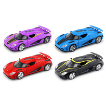 Collectible Alloy Car Model 1/32 Diecast model toy car/Koenigsegg Agera w/light&sound Pull Back Cars Model Kids Toys Gifts