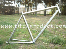 Grade 9 Titanium Track Bicycle Frame fixed gear frame(China)