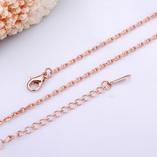 GAGAFEEL 10pcs/lot Promotions Rose gold Chain Necklace Plated 18 inch Necklaces For Women Men Wholesale(China)