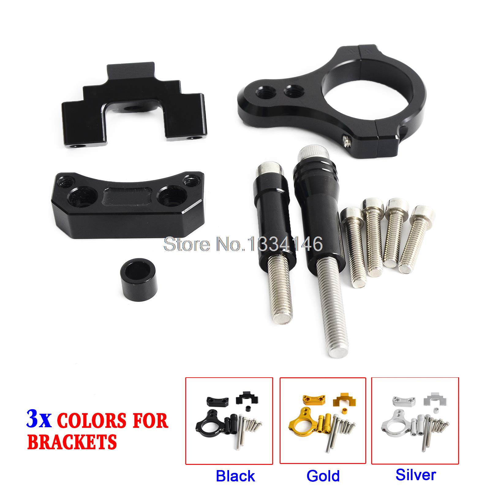 Motorcycle CNC Steering Damper Mounting Bracket For Yamaha YZF-R25/R3 2013 2014 2015 2016<br>