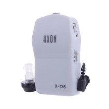 1 pcs AXON X-136 Pocket High Power Wired Box Mini Hearing Aid Best Sound Amplifier Receiver Elderly Deafness Ear Care tool
