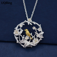 Buy 925 Sterling Silver Necklaces Gold Bird Pendants&Necklaces Pure Sterling Silver 925 Chain Necklace Jewelry Collar Colar de Plata for $4.27 in AliExpress store