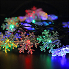Hot Selling in 2017 20 LED Window Curtain Lights String Lamp House Party Decor Striking For Christmas Home Garden Decor Lamp(China)