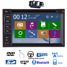 BT Stereo 6.2 Inch HeadUnit MP3 SD Autoradio PC AMP Audio Music EQ Radio System GPS Car DVD Camera MP5 Sub 3D Map