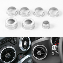 Fit For Chevrolet Camaro 2017+ Aluminum Car Interior Dashboard Air Vent Adjust Button Switch Cover Circle Trim Styling