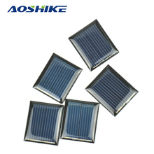 Aoshike 10Pcs Mini Solar Panels 1V 80mA 30*25MM Solar Cells For DIY Scientific Experiment(China)