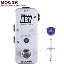 Mooer Micro ABY Channel Switch Guitar Effect Pedal Used in Two Way Full Metal Shell True Bypass