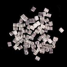 250-500pcs/lot Rubber Clear Earring Back Stoppers Accessories For Jewelry Ear Post Nuts Tube Jewelry Findings(China)