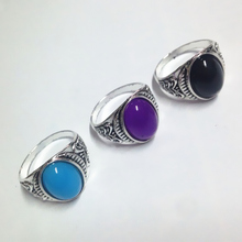 2017 New 8 Colors Luxurious Stainless Steel Rings Imitation Jewel Ring Jewelry Wedding Party(China)