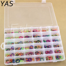 36 Grids Plastic Storage Box Adjustable Jewelry Tool Box Beads Pills Organizer Nail Art Tip Storage Box Case hard transparent(China)