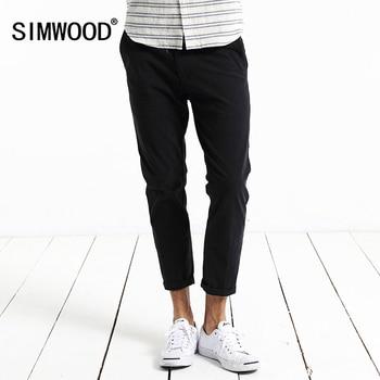 Simwood Casual Pantalon Hommes 2017 Nouvelle Arrivée BrandTrousers Slim Fit Pantalon Pantalon Homme Plus Taille Haute Qualité KX5503