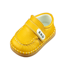 2017 for 1-3 Years Old Kids Genuine Leather Toddler Shoes Soft Bottom Baby Loafer Shoes(China)