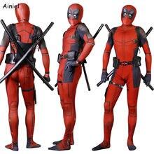ainiel kids adult deadpool cosplay costume 3d printed lycra spandex zentai deadpool sets accessories halloween costume child boy