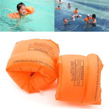 One Pair Swimming Band Arm Ring Floating Inflatable Sleeves For Adult Child(China)
