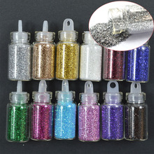 12 Colors 3D Shinny Nail Glitter Powder 3D Acrylic Gel Polish Flakes Nail Sequin Designs for Nail Decor Dust Tips CHNC322